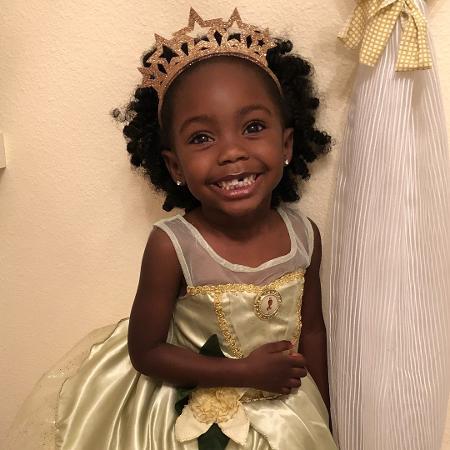 Madison vestida de princesa Tiana - Reprodução/Instagram
