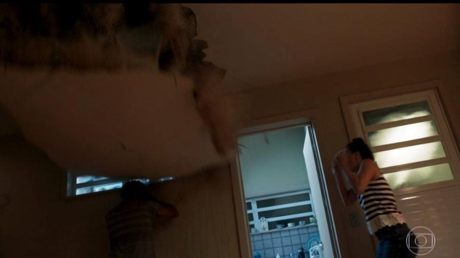 """Teto desaba e mata Lourival (Jackson Costa) após ele esmurrar parede em """"Segundo Sol"""" - Reprodução/Globo"""