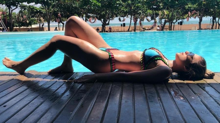Bruna Santana toma sol em Jericoacoara - Reprodução/Instagram/brusantanareal