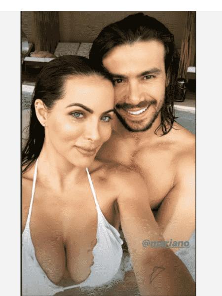 Carla Prata e Mariano em piscina de resort - Reprodução/Instagram