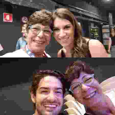 Sobrinha de Silvio Santos, Dory Abravanel posa com Rebeca Abravanel e Alexandre Pato no SBT - Reprodução/Instagram