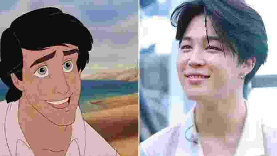 Fãs pedem que Park Jimin seja escolhido para interpretar o príncipe Eric em A Pequena Sereia - Divulgação