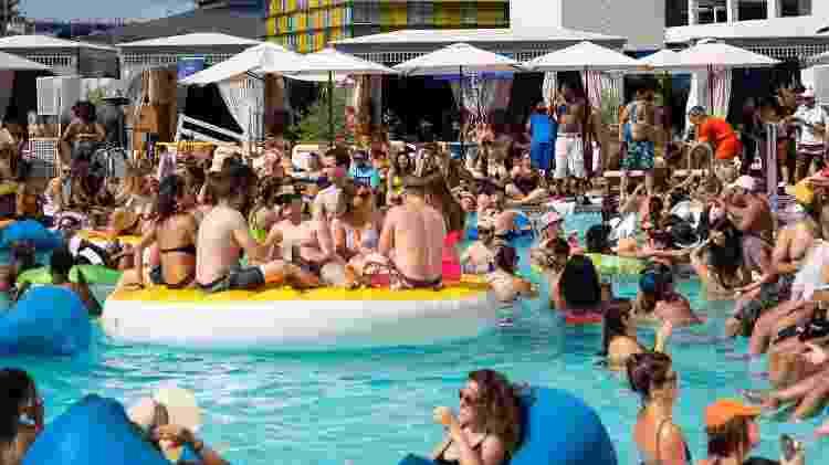 Jemaa Pool Party, em Las Vegas - Divulgação/Jemaa Pool Party - Divulgação/Jemaa Pool Party