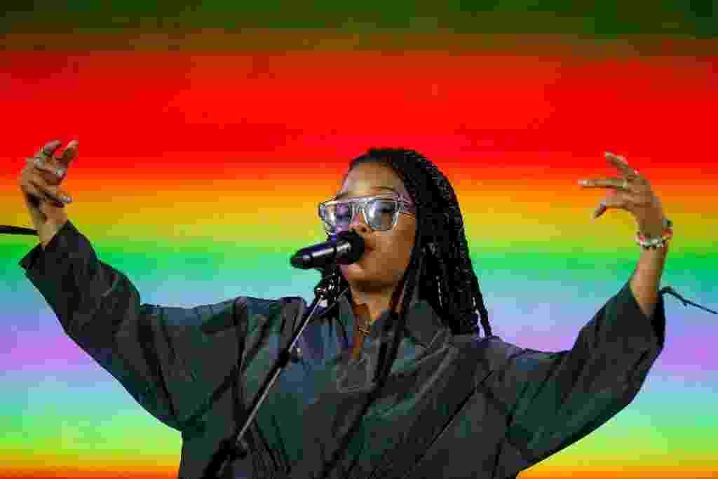 A cantora Gabriella Wilson, conhecida como H.E.R, traz o R&B para o Palco Mundo do Rock in Rio 2019 - WAGNER MEIER/GETTYIMAGES