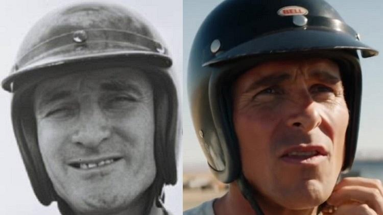 Ken Miles e Christian Bale - Reprodução/Montagem