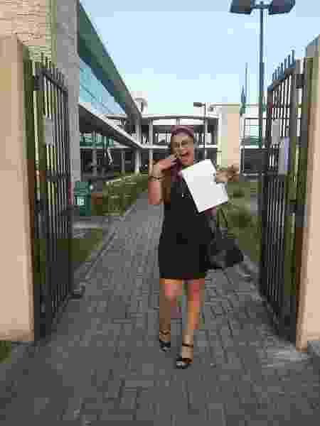 Post de Aline Regina de Freitas Leite sobre divórcio viralizou  - Arquivo pessoal