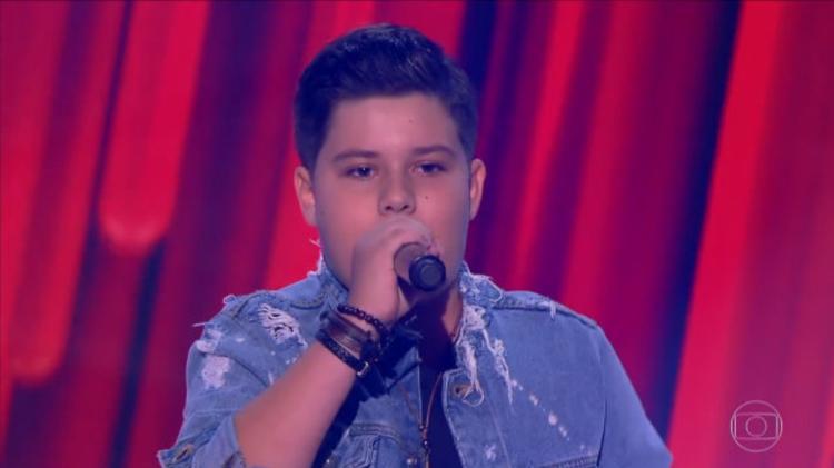Tuca Almeida participou do The Voice Kids quando tinha 13 anos - Reprodução/TV Globo