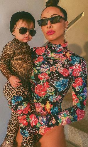 Sabrina Sato com a filha, Zoe: montadas para a quarentena
