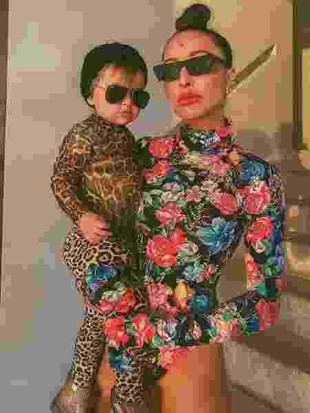 Sabrina Sato com a filha, Zoe: montadas para a quarentena - Reprodução/Instagram