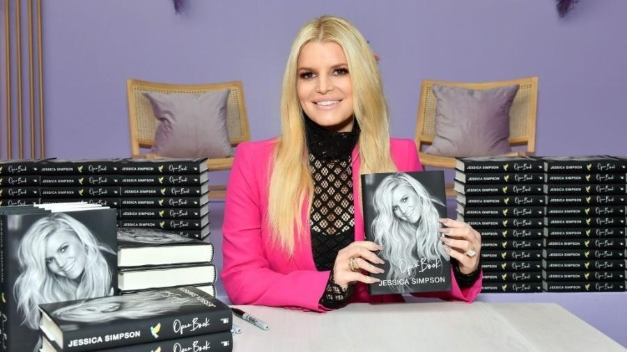 22.fev.2020 - Jessica Simpson apresenta seu livro de memórias em Los Angeles (EUA) - Amy Sussman/Getty Images