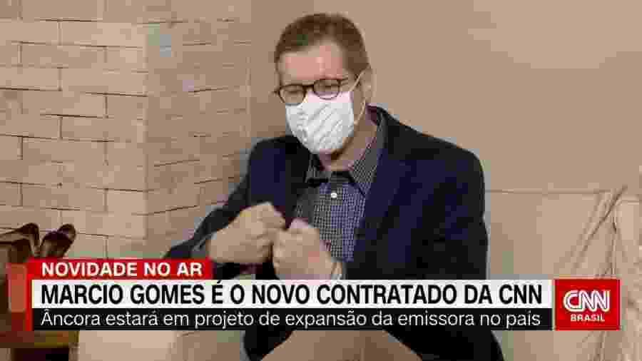 """Márcio Gomes fala à CNN Brasil sobre a mudança profissional, após 24 anos na Globo: """"O que tiver de desafio, eu topo fazer"""" - Reprodução"""