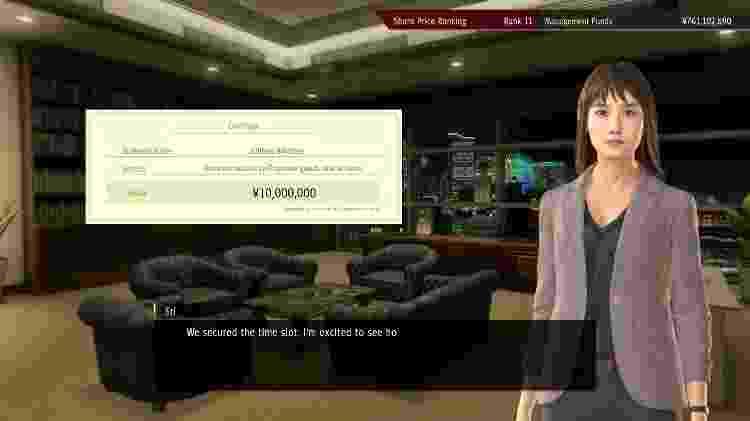 Yakuza: Like a Dragon - Investimentos - Daniel Esdras/GameHall - Daniel Esdras/GameHall