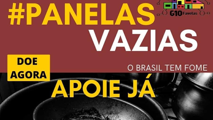 """G10 Favelas Organiza movimento """"Panelas Vazias"""" contra  a fome no país - Divulgação"""