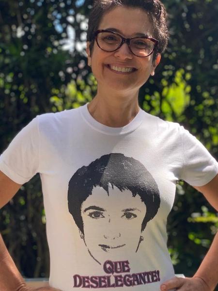 Sandra Annenberg mostra camisa com frase que rendeu meme - Reprodução/Instagram