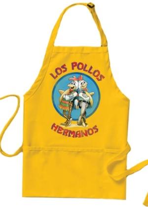 "Avental estampado com o logo da lanchonete Los Pollos Hermano, de ""Breaking Bad"" - Divulgação"