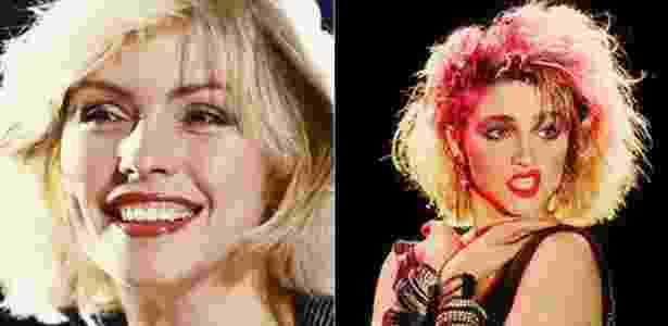 As cantoras Debbie Harry e Madonna - Reprodução/Pinterest - Reprodução/Pinterest