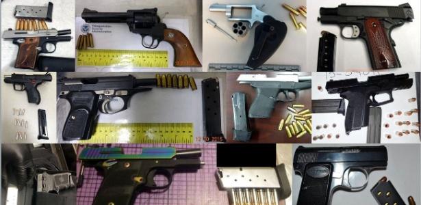 Mais de 80% das armas encontradas pela TSA estavam carregadas - Divulgação/TSA