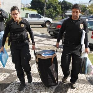 Movimentação de agentes da Polícia Federal na Operação Boca Livre - Rafael Arbex/Estadão Conteúdo
