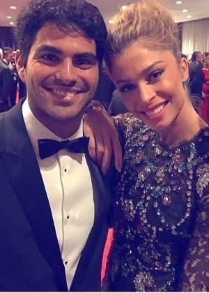Grazzi Massafera ao lado do namorado, o empresário Patrick Bulus, no Emmy Internacional - Reprodução/Instagram/massafera