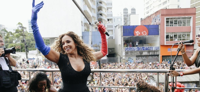 Daniela Mercury vai atrair multidão de foliões em São Paulo com o bloco Pipoca da Rainha - Felipe Gabriel/UOL