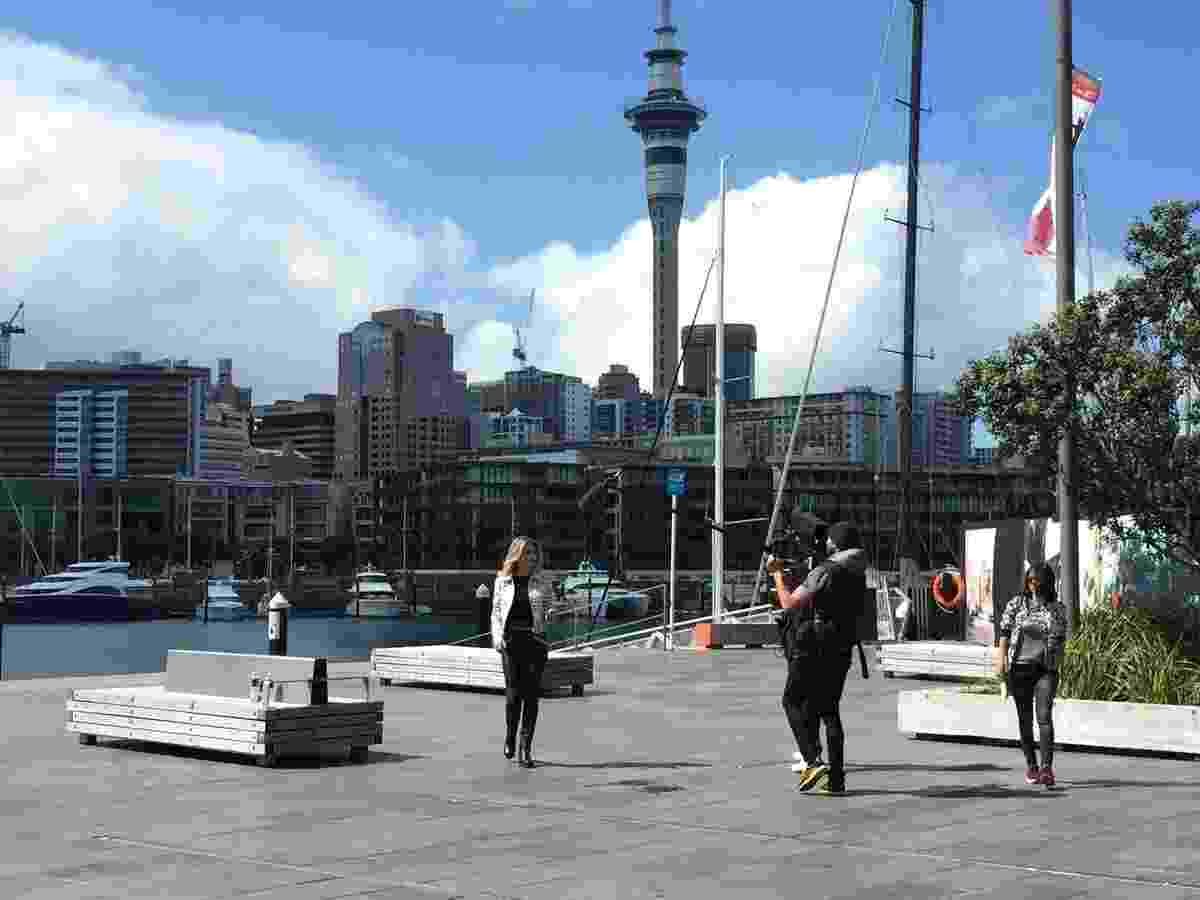 Didi Wagner em Auckland, durante a gravação - Divulgação / Tomaz Viola