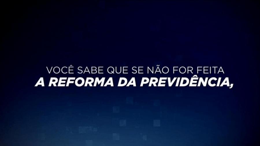 O SBT está veiculando propagandas a favor da Reforma da Previdência durante os intervalos de sua programação - Reprodução/SBT