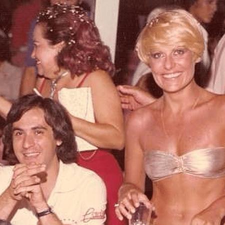 Amaury Jr. e Ana Maria Braga durante carnaval dos anos 80 - Reprodução/Instagram/oficialamauryjr