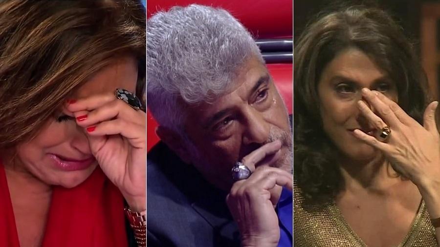 """Fafá de Belém, Lulu Santos e Paola Carosella: os jurados """"chorões"""" da TV - Montagem/UOL"""