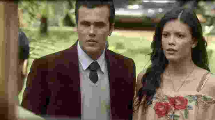 """Vicente (Bruno Ferrari) e Maria Vitória (Vitória Strada) em """"Tempo de Amar"""" - Reprodução/GShow - Reprodução/GShow"""