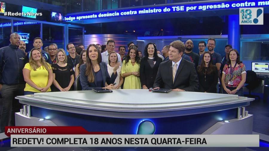 """Agora """"maior de idade"""", RedeTV! reúne profissionais para comemorar 18 anos  - Reprodução/RedeTV!"""