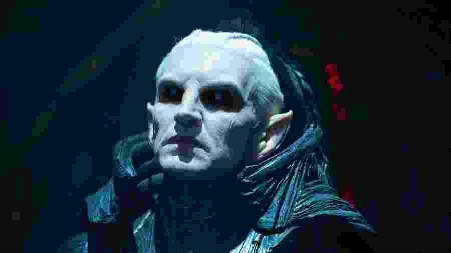 Christopher Eccleston como o vilão Malekith, em Thor: O Mundo Sombrio - Reprodução