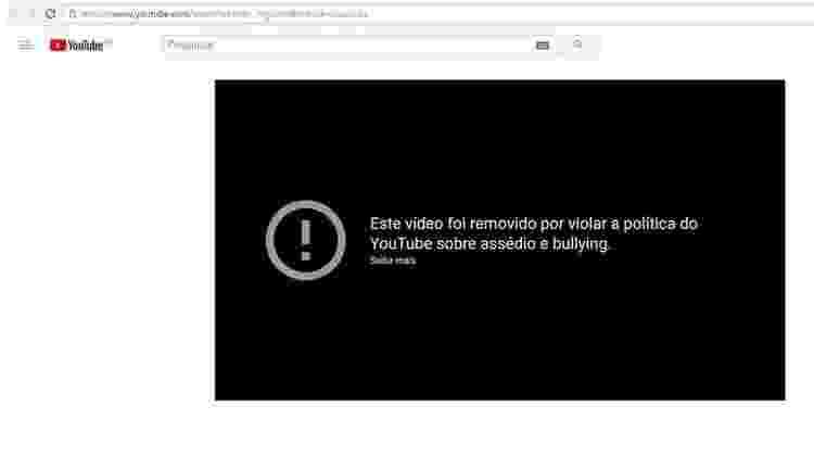 Após contato da BBC Brasil, o YouTube removeu boa parte dos vídeos - Reprodução/Youtube