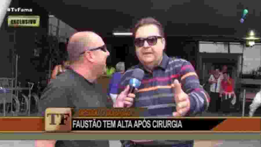 Faustão fala sobre operação após recer alta de hospital em São Paulo - Reprodução/RedeTV!