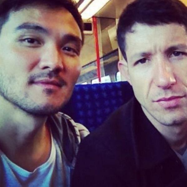 Fabiano Augusto publica primeira foto ao lado do namorado, Dan Nakagawa
