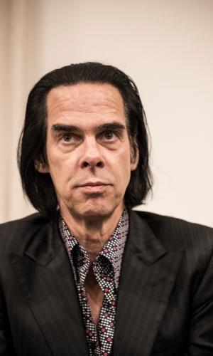 Nick Cave em coletiva de imprensa em São Paulo
