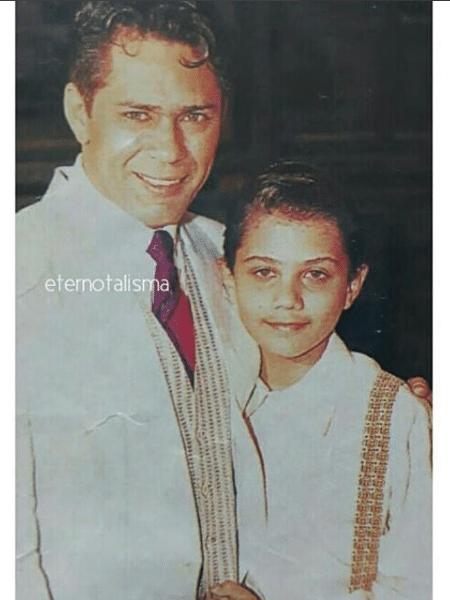 Leandro com o filho Thiago Costa - Reprodução/Instagram
