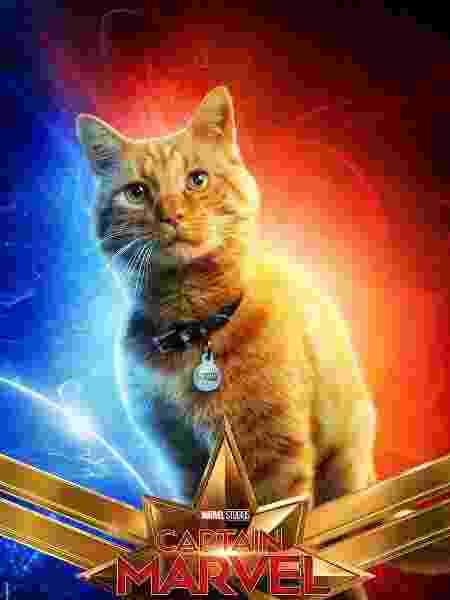"""Fofura! O gatinho de Carol Danvers, que no filme se chamará Goose, ganha seu próprio pôster de """"Capitã Marvel"""" - Divulgação - Divulgação"""