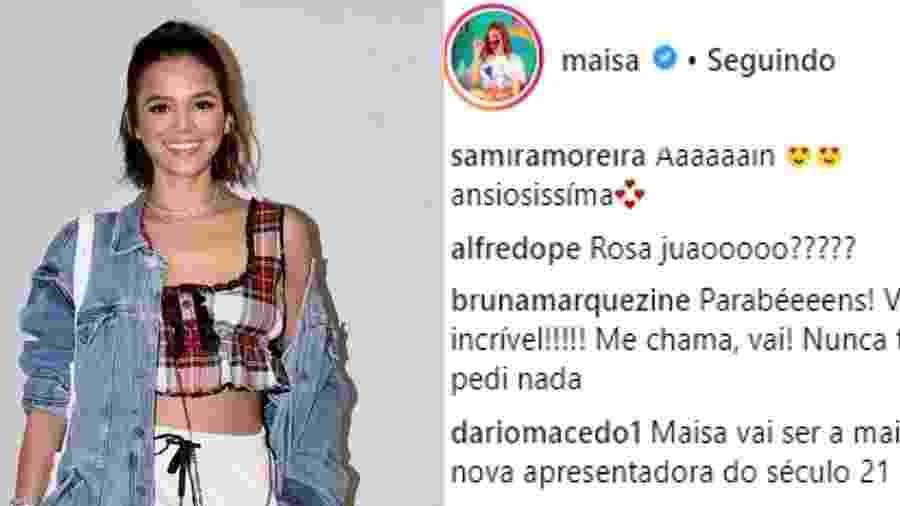 Bruna Marquezine manda mensagem para Maisa se convidando para programa - Reprodução/Instagram