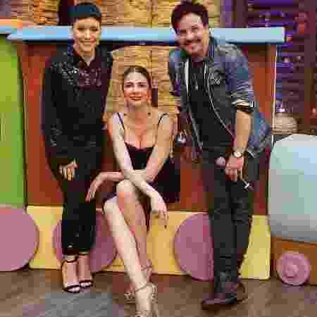 Luciana Gimenez com Patrícia Marx e Luciano Nassyn  - Divulgação/Rede TV!
