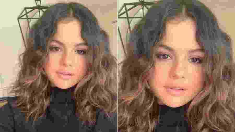 Selena Gomez com os fios naturais - Reprodução/Instagram