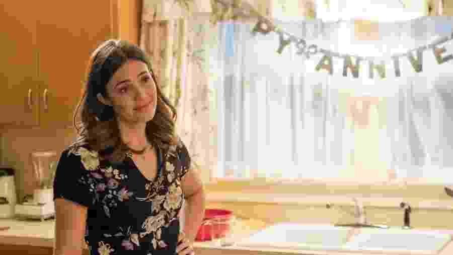 """Mandy Moore em cena de """"This Is Us"""" - Ron Batzdorff/NBC"""