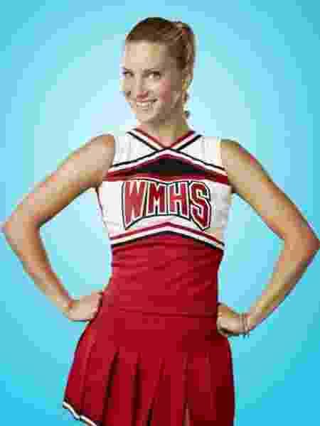 Heather Morris como a líder de torcida Brittany em 'Glee' - Reprodução/Instagram