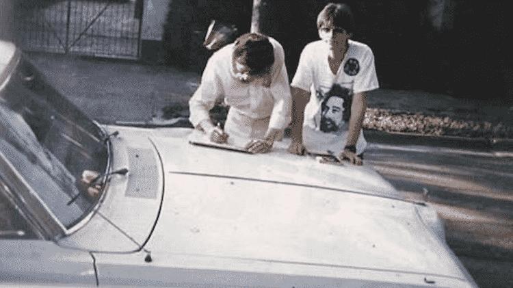Dodge Magnum 1979 Raul Seixas Alexandre Badolato coleção Grande autógrafo - Arquivo pessoal - Arquivo pessoal