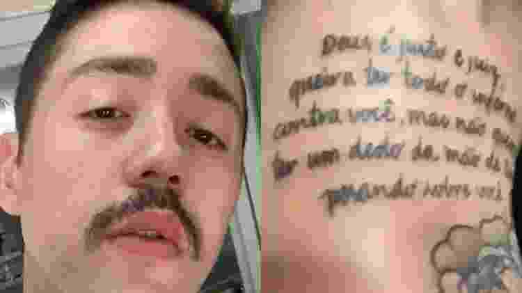 Rico Melquiades e sua tatuagem errada - Reprodução/Instagram - Reprodução/Instagram