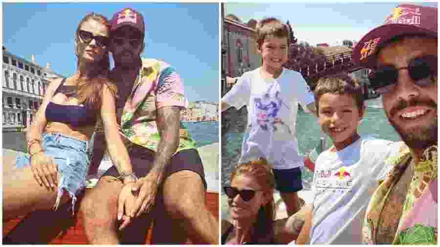 Scooby com os filhos e Cintia Dicker em Veneza - Instagram