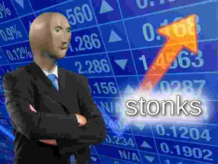 Meme do Stonks - Reprodução - Reprodução