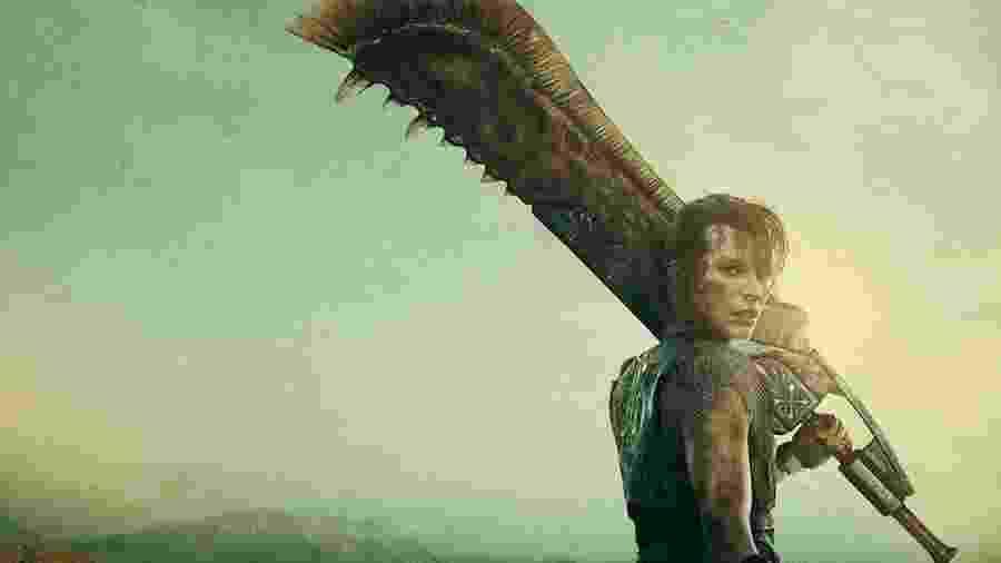 """Milla Jovovich em imagem promocional de """"Monster Hunter"""" - Reprodução/Instagram"""