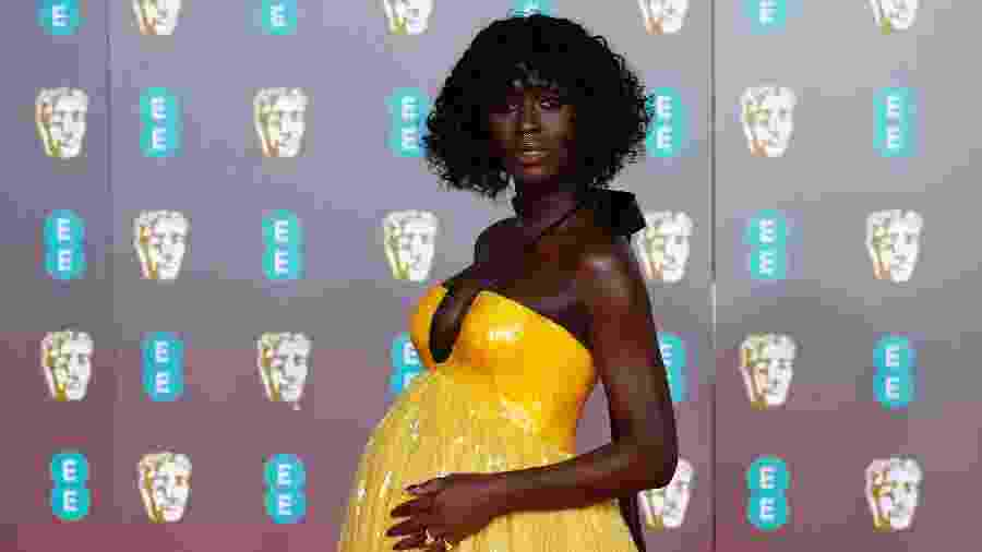 Atriz Jodie Turner-Smith no The British Academy of Film and Television Awards - Henry Nicholls/REUTERS