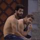 BBB 21: Caio e Rodolffo na área externa - Reprodução Globoplay