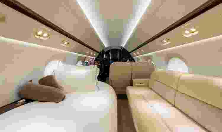 Interior do Gulfstream G550 - Divulgação/Flapper - Divulgação/Flapper